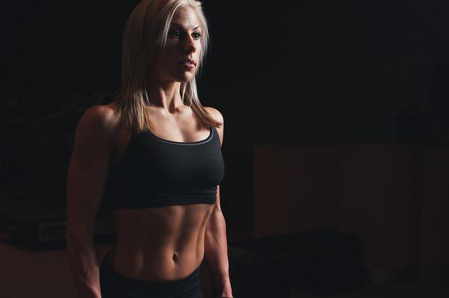 blonďatá sportovkyně